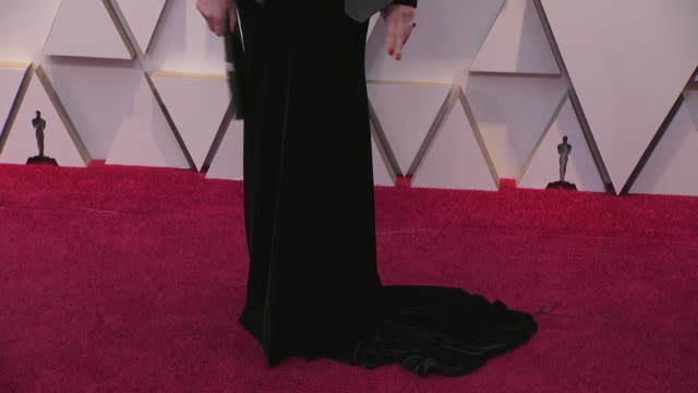 allison janey walking the red carpet at the 91st annual academy awards at the dolby theater in los angeles, california. - music or celebrities or fashion or film industry or film premiere or youth culture or novelty item or vacations 個影片檔及 b 捲影像