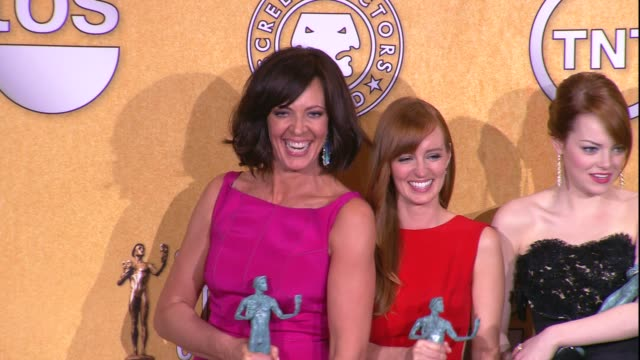 Allison Janney Ahna O'Reilly Emma Stone Jessica Chastain Octavia Spencer and the cast of The Help at 18th Annual Screen Actors Guild Awards Press...