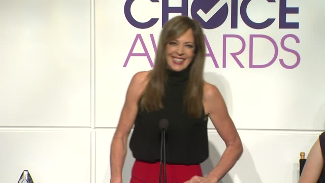 allison janney announces the nominees at the 2014 people's choice awards nominations announcement in beverly hills, 11/05/13 - people's choice awards stock videos & royalty-free footage