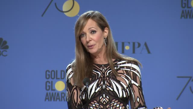 SPEECH Allison Janney at 75th Annual Golden Globe Awards Press Room at The Beverly Hilton Hotel on January 07 2018 in Beverly Hills California