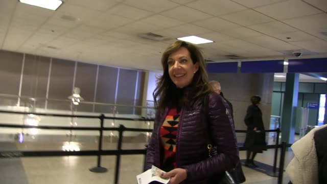 Allison Janney at Salt Lake City Airport for the Sundance Film Festival in Celebrity Sightings in Park City UT