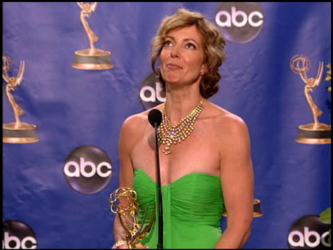 Allison Janney at the 2004 Emmy Awards press room at the Shrine Auditorium in Los Angeles California on September 19 2004