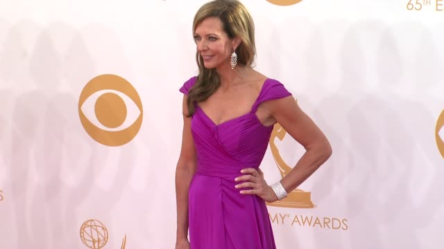 allison janney at the 65th annual primetime emmy awards - arrivals in los angeles, ca, on 9/22/13. - annual primetime emmy awards stock-videos und b-roll-filmmaterial