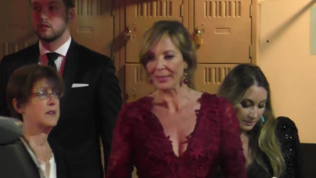 stockvideo's en b-roll-footage met allison janney at the 70th annual directors guild of america awards at the beverly hilton hotel in beverly hills at celebrity sightings in los... - beverly hilton hotel