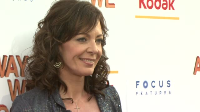 allison janney at the 'away we go' screening at new york ny - away we go video stock e b–roll