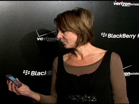 Allison Janney at the BlackBerry Pearl 8130 launch party at the IAC Building in New York New York on January 30 2008