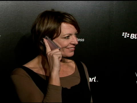 allison janney at the blackberry pearl 8130 launch party at the iac building in new york, new york on january 30, 2008. - electronic organiser stock videos & royalty-free footage