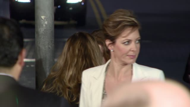 allison janney at the 'juno' premiere at the mann village theatre in westwood california on december 3 2007 - regency village theater stock videos & royalty-free footage