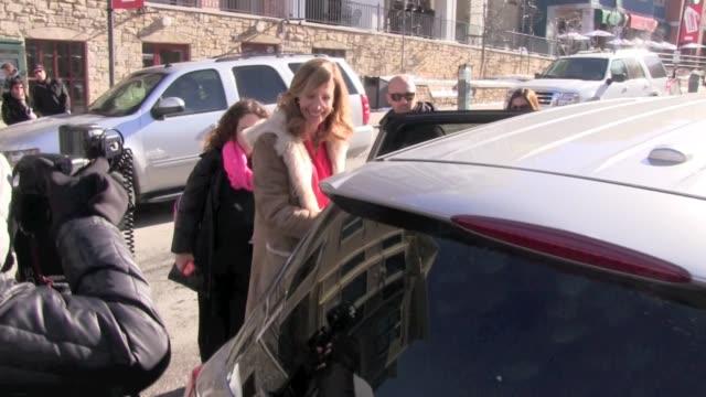 Allison Janney Celebrity Sightings in Park City on 1/19/13 in Park City Utah
