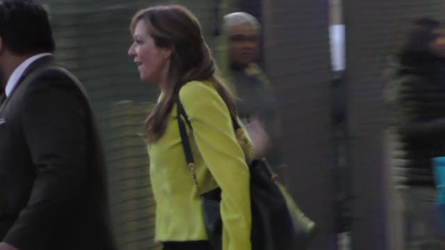 Allison Janney greets fans outside Jimmy Kimmel Live at El Capitan Theater in Hollywood in Celebrity Sightings in Los Angeles
