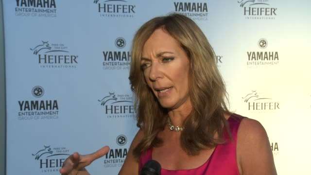 Allison Janney on being a part of the night what makes Heifer International different from other hunger and poverty organizations why the empowerment...