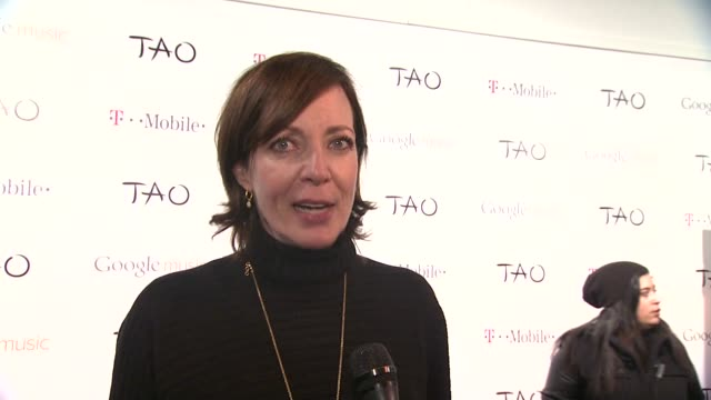 Allison Janney on being at Tao at TMobile Presents Google Music At Tao Day 2 in Park City Utah on 1/21/2012