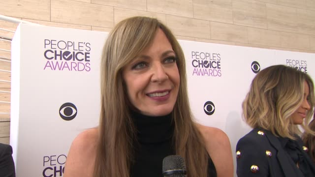 interview allison janney on being nominated being on tv and favorite fan experience at the 2014 people's choice awards nominations announcement in... - people's choice awards stock videos & royalty-free footage
