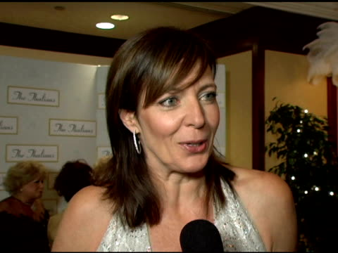 allison janney on her fascination with the old hollywood dames at the event at the 50th anniversary of the thalians at the century plaza hotel in... - thalians annual ball stock videos & royalty-free footage