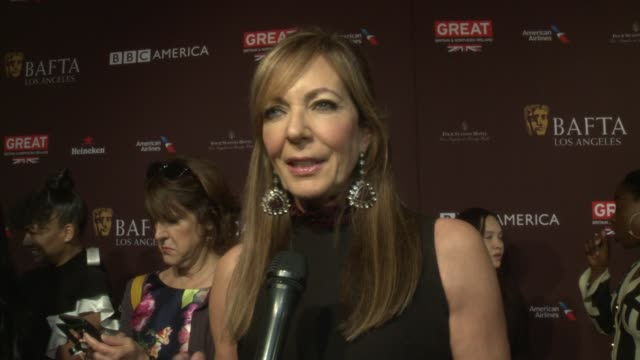 INTERVIEW Allison Janney on the event at 2018 BAFTA Los Angeles Tea Party The Four Seasons Los Angeles at Beverly Hills in Los Angeles CA