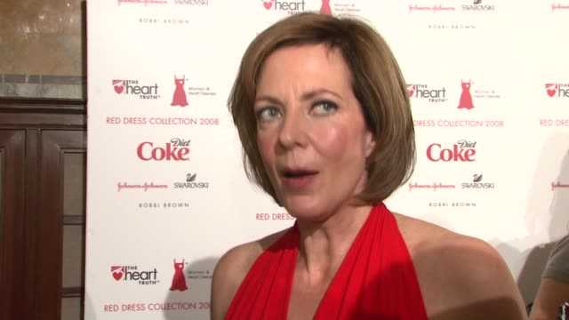 Allison Janney on wearing DKNY what she does to prevent heart disease and why she did this event at the MercedesBenz Fashion Week Fall 2008 Heart...