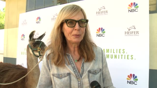 INTERVIEW Allison Janney on why she wanted to support Heifer International and talks about how she got involved with the organization at Feeding...