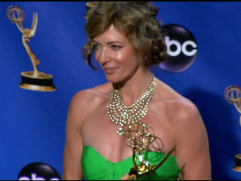 Allison Janney winner of Outstanding Lead Actress in a Drama Series for 'The West Wing' at the 2004 Primetime Emmy Awards press room at the Shrine...