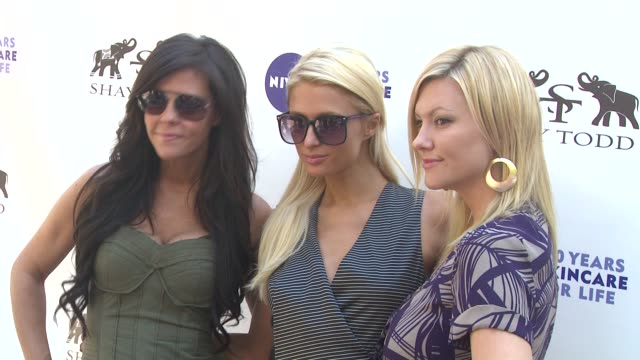 allison melnick paris hilton jennifer rovero at the khloe kardashian odom reveals results of the 2011 nivea goodbye cellulite hello bikini challenge... - cellulite stock videos & royalty-free footage