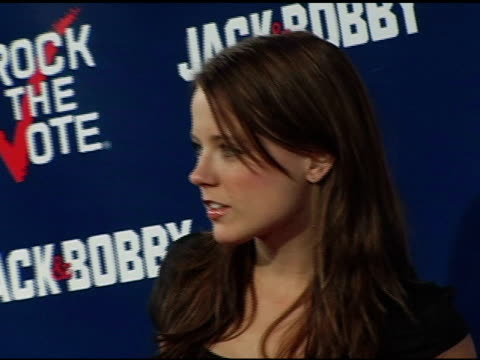 allison munn at the rock the vote at warner brothers in burbank, california on september 29, 2004. - rock the vote stock-videos und b-roll-filmmaterial