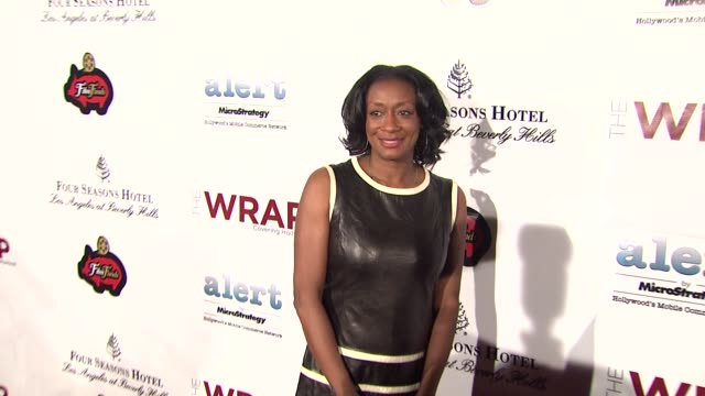 allison samuels at thewrap.com pre-oscar party on 2/22/2012 in beverly hills, ca. - oscar party stock videos & royalty-free footage