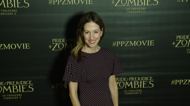 Allison Shearmur at the 'Pride And Prejudice And Zombies' Los Angeles Premiere at Harmony Gold Theater on January 21 2016 in Los Angeles California