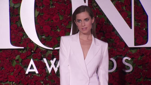 allison williams at 2016 tony awards red carpet at the beacon theatre on june 12 2016 in new york city - 70th annual tony awards stock videos and b-roll footage