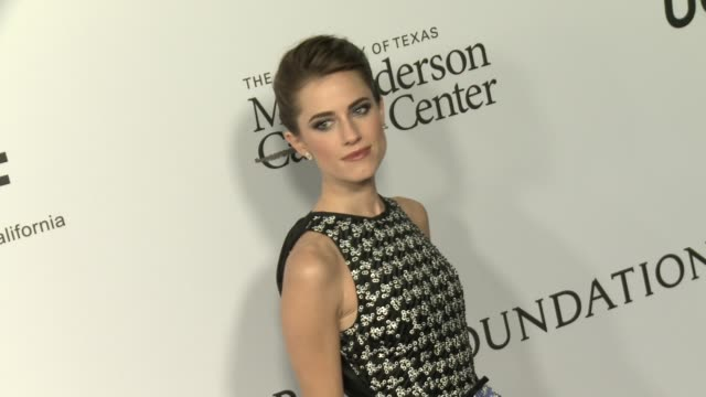 allison williams at sean parker and the parker foundation celebrate the launch of the parker institute for cancer immunotherapy on april 13 2016 in... - allison parker stock-videos und b-roll-filmmaterial