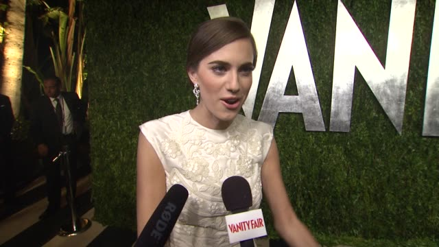 INTERVIEW Allison Williams at The 2013 Vanity Fair Oscar Party Hosted By Graydon Carter INTERVIEW Allison Williams at The 2013 Vanity at Sunset Tower...