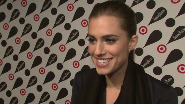 allison williams on shopping the target and neiman marcus collection at target neiman marcus holiday collection launch event interview allison... - neiman marcus stock videos & royalty-free footage