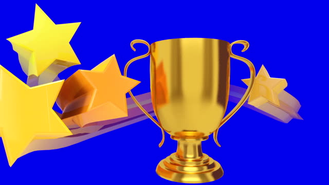 all-star trophy blue - award stock videos & royalty-free footage