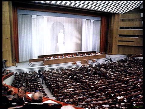 allunion congress of people's deputies gorbachev's speech ifro parliament debate - congress stock videos & royalty-free footage
