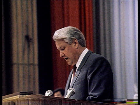 AllUnion Congress of People's Deputies Yeltsin's speech at congress in presence of Gorbachev