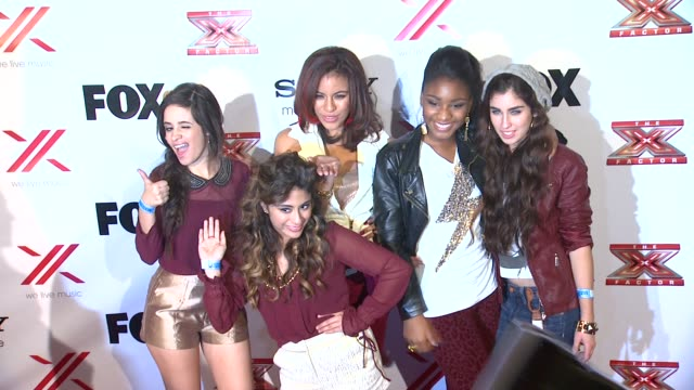 vídeos y material grabado en eventos de stock de ally brooke camila cabello normani hamilton dinahjane hansen lauren jauregui at the x factor viewing party sponsored by sony x headphones on in los... - 2012