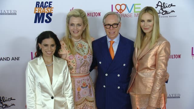 ally hilfiger, nancy davis, tommy hilfiger and dee ocleppo at the 26th annual race to erase at the beverly hilton hotel on may 10, 2019 in beverly... - the beverly hilton hotel stock videos & royalty-free footage