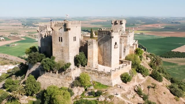 almodóvar castle drone video - castle stock videos & royalty-free footage