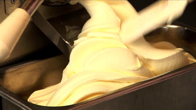 almond ice-cream. - stirring stock videos & royalty-free footage