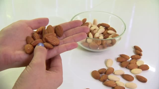 almonds - snack stock videos & royalty-free footage