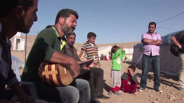 almost 14,000 syrian kurds in a camp in northern iraq are preparing for what will be for many of them their first eid al adha holiday the feast of... - holiday camp stock videos & royalty-free footage