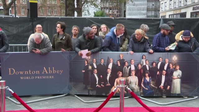 almost 4 years after the historic period drama tv series aired its final episode downton abbey premieres in london with most of the original cast - premiere stock videos & royalty-free footage