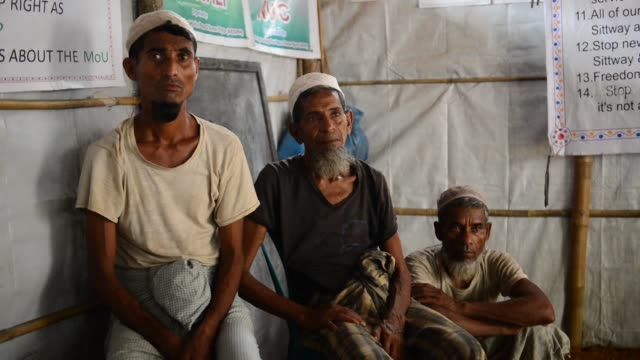 almost a year since the myanmar army began its crackdown on rohingya muslims in rakhine state teams of investigators and rohingya refugees collect... - international court of justice stock videos and b-roll footage