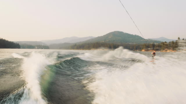 almost landing a flip on a wakeboard - wakeboarding stock videos & royalty-free footage