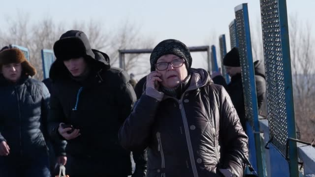 almost two million people lost mobile connection in war torn eastern ukraine after a vodafone ukraine fibre optic line was cut on january 11 as a... - ukraine stock videos & royalty-free footage