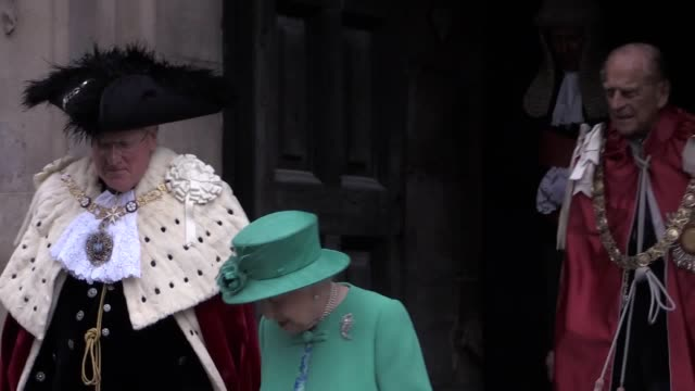 almost two thousand holders of the order's awards from knights and dames to those who have received a cbe obe or mbe will attend the service at st... - order of the british empire stock videos and b-roll footage