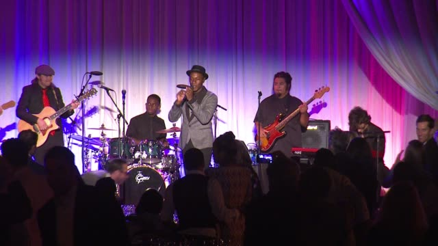 performance aloe blacc at 14th annual chrysalis butterfly ball in los angeles ca - chrysalis butterfly ball video stock e b–roll