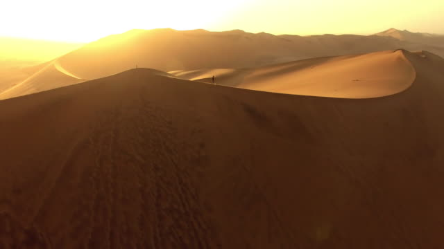 alone amongst the dunes - namibian desert stock videos and b-roll footage