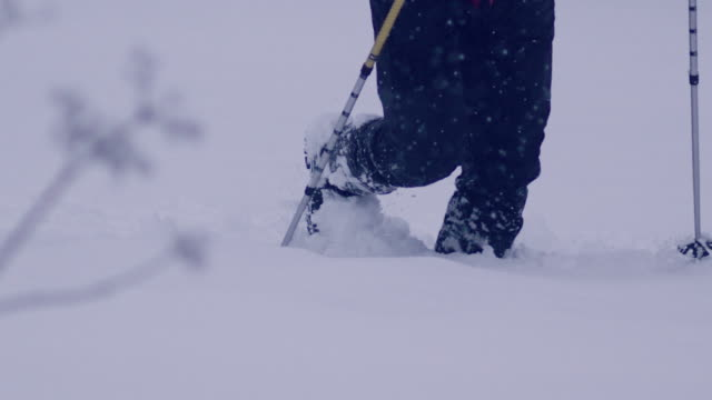 alone in the mountains. winter trip - snowcapped mountain stock videos & royalty-free footage