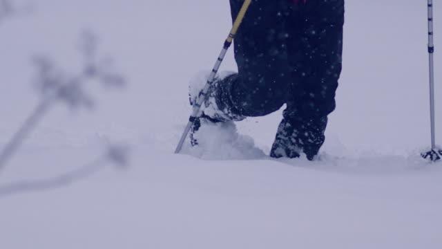 vídeos y material grabado en eventos de stock de solo en las montañas. viaje de invierno - masculinidad