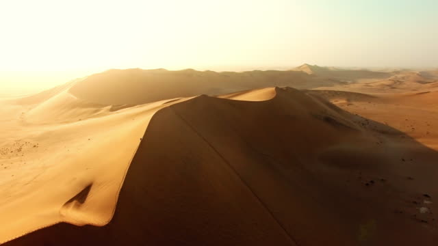 alone in the vastness of the desert - namibian desert stock videos and b-roll footage