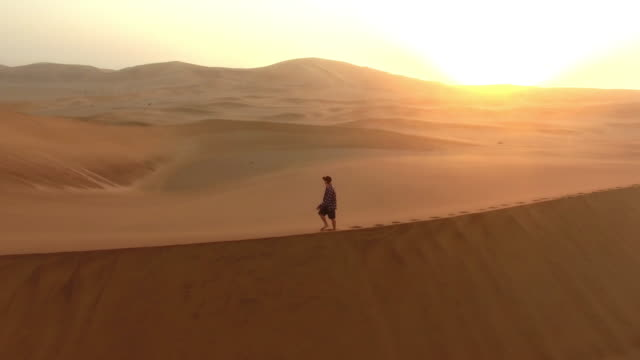 alone with the sand and sun - impronta del piede video stock e b–roll